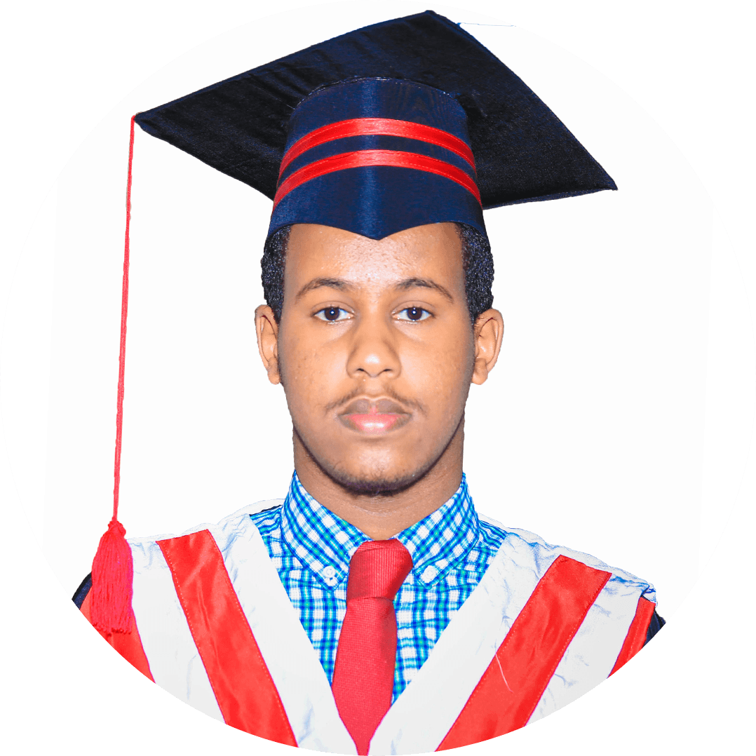 Abdirahman Ahmed Abdullahi, My bachelor degree at Hormuud in computer science consisted of many projects-based evaluation and faculty connect. The mentors at Hormuud University helped us enhance my academic and interpersonal skills.