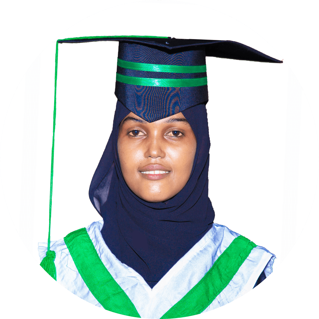 Aisha Mohamed Omar If you have dreams and are willing to trust your professors to help you achieve them, Hormuud University is the place for you. I always feel very happy when it comes to talking about Hormuud University. I love the curriculum, world-class infrastructure, environment, and other facilities that make you ready for the professional world. Thank you, Hormuud University!