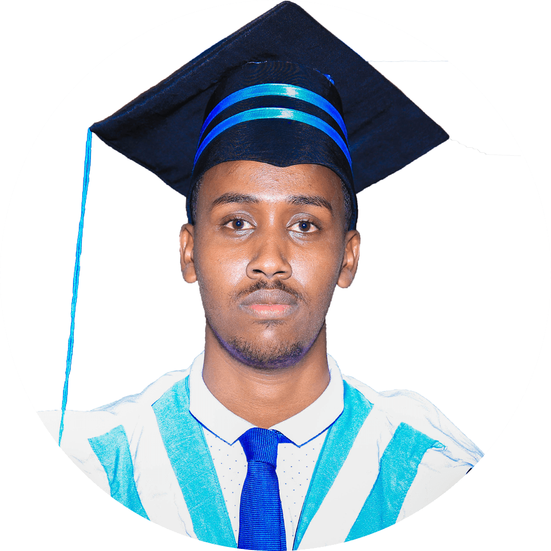 Mu'awiye Ali Hussein  University is a place where every student comes with several dreams with the hope to make them true. I put my first step in Hormuud University with the same hope, and all of my dreams are coming true with the support and guidance of faculty members. I am happy because I feel I am at the right place where I can build a bright future.
