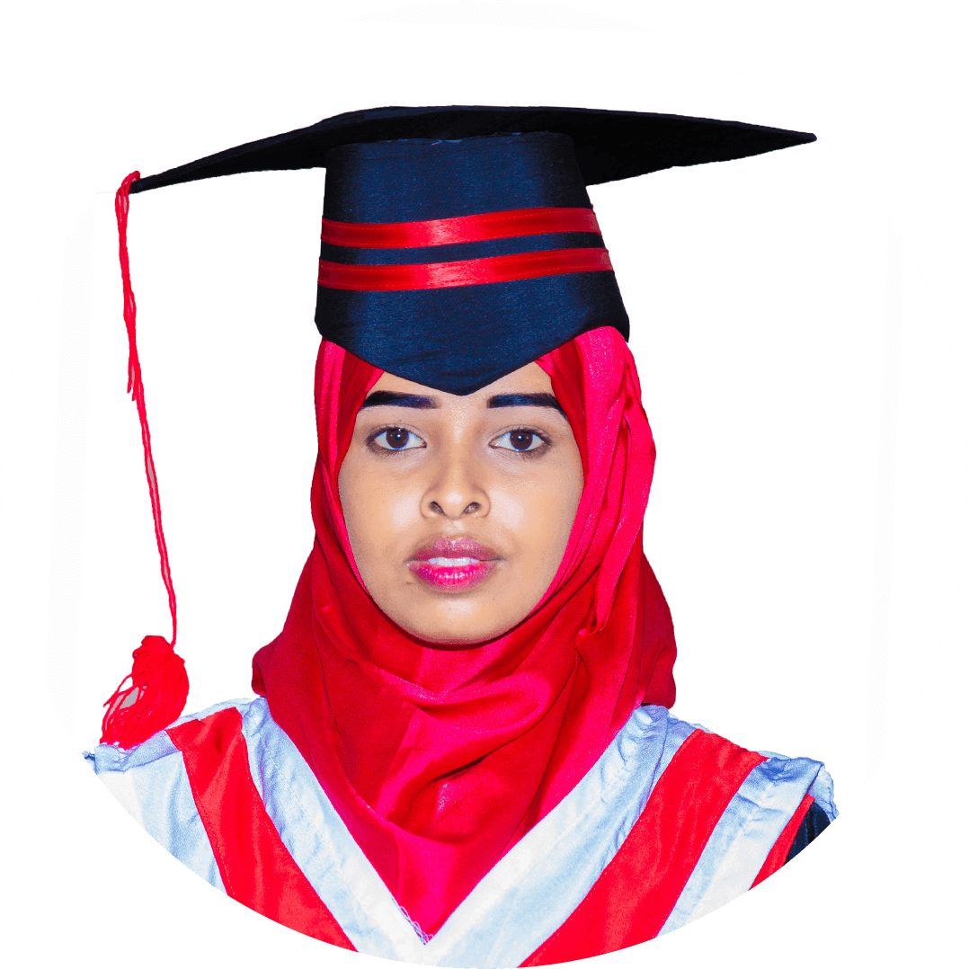 Naima Abshir Omar, I appreciate the University for giving so many facilities to the students. Each student is getting ample opportunity at the laboratories and library as well as industrial training. Everything is going on nicely in our programme.